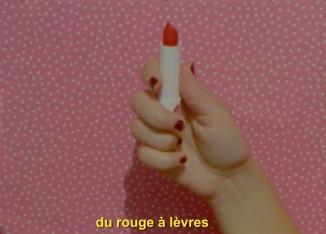 du rouge à lèvres